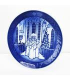 ロイヤルコペンハーゲン ROYAL COPENHAGEN イヤープレート 1991年 サンタルチア クリスマス 皿 ブルー系 ブランド食器