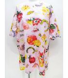 グッチ GUCCI 花柄 半袖 Tシャツ カットソー 紫系 ラベンダー プリント サイドスリット イタリア製