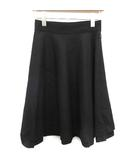モンクレール MONCLER スカート ひざ丈 フレア GONNA ウール 38 黒 ブラック /KH