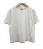 サンローラン パリ SAINT LAURENT PARIS Tシャツ カットソー 半袖 ロゴ 刺繍 L 白 ホワイト /KH