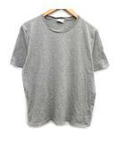 サンローラン パリ SAINT LAURENT PARIS Tシャツ カットソー 半袖 ロゴ 刺繍 L グレー /KH