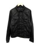 ディーゼル DIESEL ジャケット デニム Gジャン ジージャン ELSHAR コーティング加工 M 黒 ブラック /KH