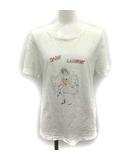 サンローラン パリ SAINT LAURENT PARIS Tシャツ カットソー プリント 半袖 XS 白 ホワイト /YM