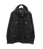 ディーゼル DIESEL ジャケット ミリタリー フード XL 黒 ブラック /KH