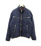 ディーゼル DIESEL ジャケット 中綿 ジップアップ スタンドカラー ナイロン XL 紺 ネイビー /KH
