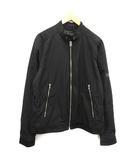 ディーゼル DIESEL ジャケット MA-1 中綿 スタンドカラー ジップアップ XL 黒 ブラック /KH