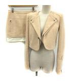 ビーシービージーマックスアズリア BCBGMAXAZRIA セットアップ スーツ 上下 ジャケット スカート XXS 0 ベージュ /EK