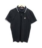 モンクレール MONCLER ポロシャツ 半袖 ライン MAGLIA POLO MANICA CORTA L 紺 ネイビー /KH ●D
