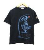 モンクレール MONCLER Tシャツ カットソー 半袖 ペイント ワッペン XL 紺 ネイビー /KH