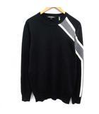 カールラガーフェルド KARLLAGREFELD  ニット セーター ウール 長袖 S 黒 ブラック グレー /EK
