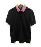 ラフシモンズ RAF SIMONS ポロシャツ 半袖 40 黒 ブラック /EK