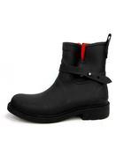 ラグ&ボーン RAG&BONE レインブーツ シューズ ショート 長靴 サイドジップ 38 黒 赤 /YM