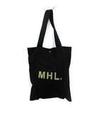 マーガレットハウエル MHL. トートバッグ キャンバス ロゴ 黒 ブラック /YM