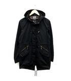 バーバリーブラックレーベル BURBERRY BLACK LABEL コート フード コットン L 黒 ブラック /KH