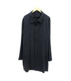 エンポリオアルマーニ EMPORIO ARMANI コート ステンカラー ロング ウール シルク混 58 紺 ネイビー /KH