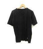 ナンバーナイン NUMBER (N)INE カットソー Tシャツ Vネック 半袖 2 黒 ブラック /YO10