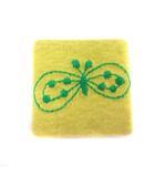ミナペルホネン mina perhonen ブローチ アクセサリー 蝶 刺繍 黄 イエロー 緑 グリーン /EK