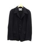 コムデギャルソンシャツ COMME des GARCONS SHIRT コート ステンカラー ショート ウール S 紺 ネイビー /KH