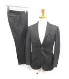 ボリオリ BOGLIOLI スーツ セットアップ 上下 シングル ジャケット パンツ ヘリンボーン 44 グレー 黒 /YM
