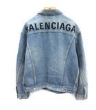 バレンシアガ BALENCIAGA 19SS Gジャン ジージャン デニムジャケット ロゴ刺繍 44 青 ブルー /EK