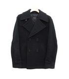 バーバリーブラックレーベル BURBERRY BLACK LABEL ピーコート Pコート ショート ウール S 紺 ネイビー /KH
