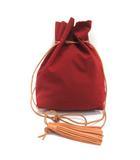 モルミルス mormyrus 巾着 バッグ フリンジ 赤 レッド /TK