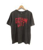 ナンバーナイン NUMBER (N)INE カットソー Tシャツ Uネック GOTHAM CITY プリント 半袖 4 カーキ /YI18