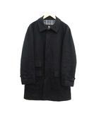 バーバリーブラックレーベル BURBERRY BLACK LABEL コート ステンカラー ロング ウール L チャコールグレー /KH