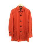 バーバリーブラックレーベル BURBERRY BLACK LABEL コート ステンカラー ロング ナイロン M オレンジ /KH