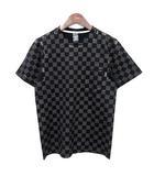 ナンバーナイン NUMBER (N)INE Tシャツ ヴィンテージ加工 チェッカーフラッグ 半袖 チェック 2 黒  /☆G
