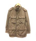 アルファ ALPHA M-65 フィールドジャケット ミリタリー ジップアップ M ベージュ /EK