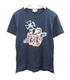 ヴィヴィアンウエストウッドマン Vivienne Westwood MAN Tシャツ カットソー プリント 半袖 48 紺 ネイビー /EK ●D
