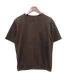 マーガレットハウエル MARGARET HOWELL 17AW Tシャツ ポケット 無地 半袖 カットソー M 茶  /☆G