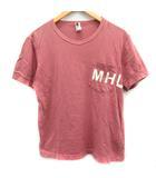 マーガレットハウエル MARGARET HOWELL Tシャツ カットソー 半袖 ロゴ M ピンク /EK