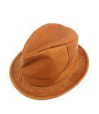 カシラ CA4LA 帽子 ハット カウレザー 茶 ブラウン /KH