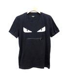 フェンディ FENDI Tシャツ バッグバグズ  モンスター  ジップ 半袖 カットソー XS ネイビー 紺 /☆G