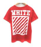 オフホワイト OFF WHITE Tシャツ カットソー 半袖 プリント XS 赤 レッド 白 ホワイト /EK