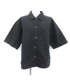 マーガレットハウエル MHL. 19SS シャツ 半袖 麻 リネン 3 黒 ブラック /MF11