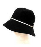 ヘレンカミンスキー HELEN KAMINSKI 帽子 ハット クロッシェ リネン M 黒 ブラック /YM