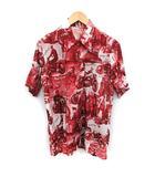 ザリアルマッコイズ THE REAL McCOY'S アロハシャツ 総柄 半袖 M 赤 白 /YM
