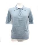 マルタンマルジェラ Martin Margiela 4 ポロシャツ ニット 半袖 コットン S 青 ブルー /KH