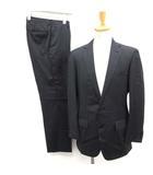 エディフィス EDIFICE スーツ セットアップ 上下 ジャケット パンツ ストライプ 48 紺 ネイビー /EK