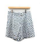 スポーツマックス マックスマーラ SPORT MAX ショートパンツ ハーフ 刺繍 総柄 36 青 ブルー 白 ホワイト /AD43