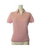 バーバリー ロンドン BURBERRY LONDON ポロシャツ ニット 半袖 1 ピンク /TK