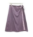 パラスパレス Pallas Palace ラップスカート フレア ひざ丈 刺繍 0 紫 パープル /AD8