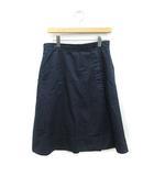 マーガレットハウエル MARGARET HOWELL スカート ひざ丈 フレア 3 紺 ネイビー /MF9