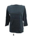 セントジェームス SAINT JAMES Tシャツ カットソー ボーダー 七分袖 XS 42 紺 緑 /YM