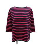 ビューティフルピープル beautiful people Tシャツ カットソー ボーダー 七分袖 36 紺 ピンク /YM