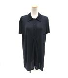 フェンディ FENDI チュニック シャツ 半袖 総柄 46 紺 ネイビー /TK