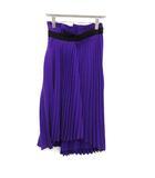 バレンシアガ BALENCIAGA 19SS スカート プリーツ ロング asymmetrical pleated skirt アシンメトリー 36 紫 /KH